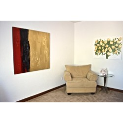 Red, Black & Gold Contemporary