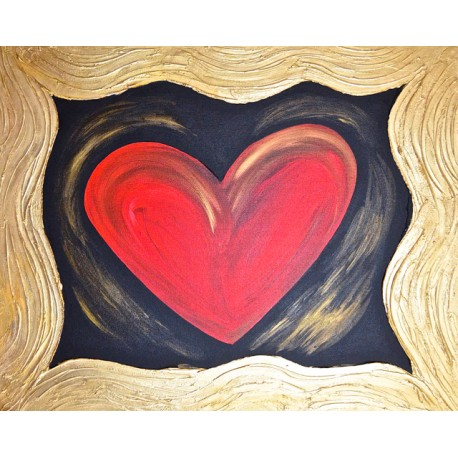Textured Heart: Perfect Love Cast Out All Fear