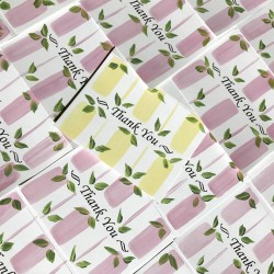 Hand Painted Stationery: Preppy Pink & Leaves 10/$27.50