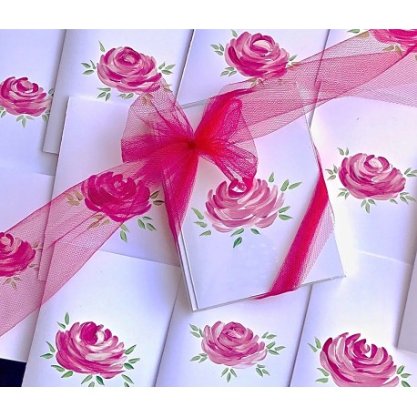 Hand Painted Stationery: Signature Roses 10/$25.00