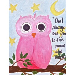 """Owl Always Love You to the Moon and Back"""
